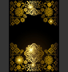 luxury gold ornamental design background vector image