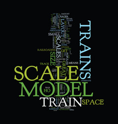 Model train scales text background word cloud vector