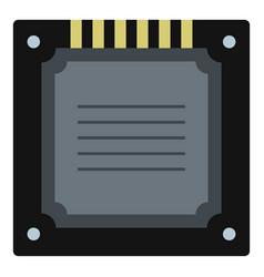 Modern multicore cpu icon isolated vector