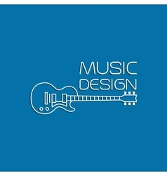 Music design with electric guitar vector image