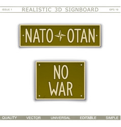 nato - otan no war vector image