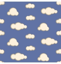 Night sky clouds seamless pattern vector image vector image