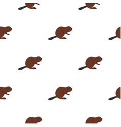 North american beaver pattern seamless vector