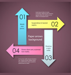 paper arrows background vector image