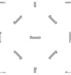 petrol tanker ship pattern seamless vector image