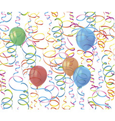 realistic colorful balloons with reflects and vector image