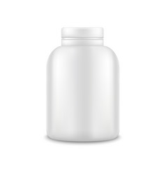 realistic template blank white protein bottle vector image