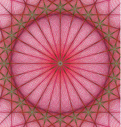 Red geometric kaleidoscope fractal background vector