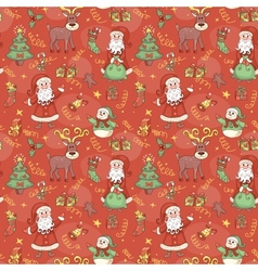 Red holiday seamless pattern vector image
