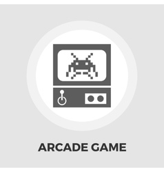 Retro Arcade Machine flat icon vector image