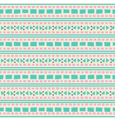 seamless aztec pattern in blue and pink vector image