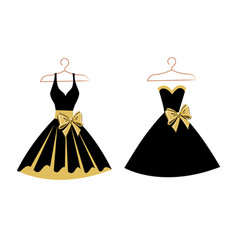 set dresses on hangers vector image