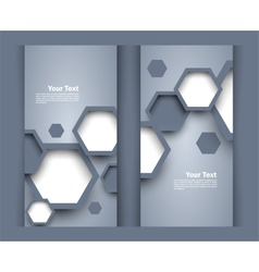 Set of banners with hexagons vector