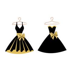 set of dresses on hangers vector image