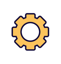 Setting gear work learning online icon vector