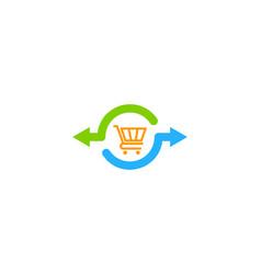 shop share logo icon design vector image