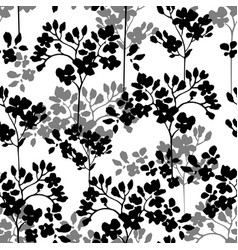 silhouettes vertical branches with flowers vector image