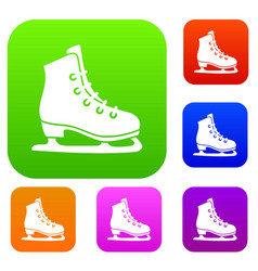 skates set collection vector image