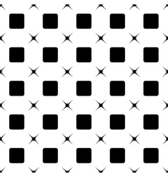 Square and star black seamless pattern vector
