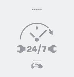 Steady services 247 - web icon vector