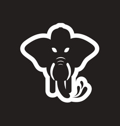 Style black and white icon elephant firefighter vector