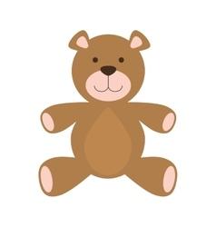 Teddy bear icon Toy design graphic vector image