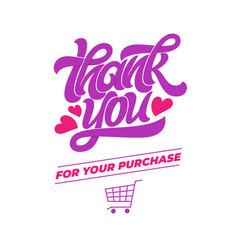 Thank you for your purchase typography for vector