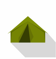 tourist or a military tent icon flat style vector image