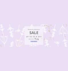 Trendy elegant floral pastel blush lavender gold vector
