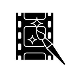 Video editing software glyph icon vector
