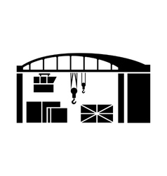 Warehouse for loading icon simple style vector