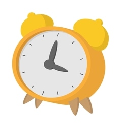 Yellow alarm clock icon cartoon style vector image