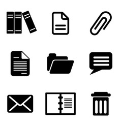 computer message icons vector image vector image