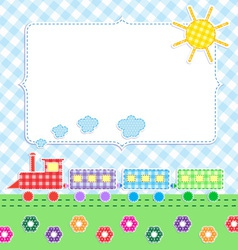 Frame with cartoon train vector image vector image