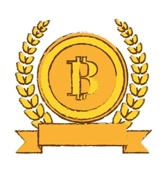 golden bitcoin icon digital symbol vector image vector image