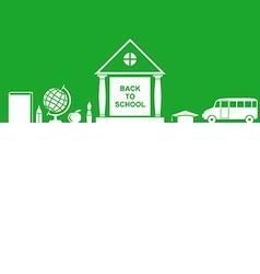 School house green vector