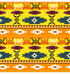 Seamless texture with Mexican pattern vector image vector image