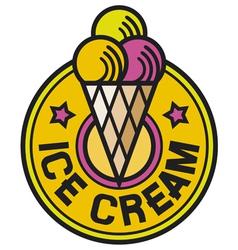 ice cream label vector image vector image