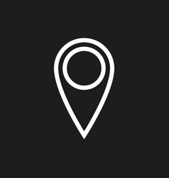 location icon on black background vector image vector image