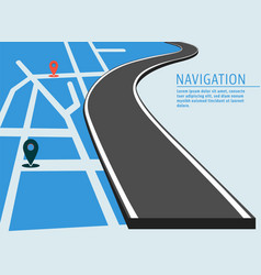 map location banner vector image vector image