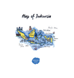 map of indonesia watercolor vector image vector image