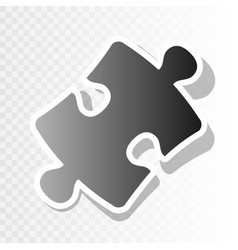 puzzle piece sign new year blackish icon vector image vector image