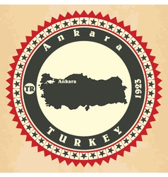 Vintage label-sticker cards of Turkey vector image vector image
