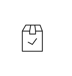 checked delivery box icon vector image