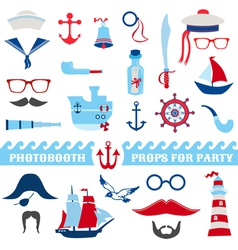 Nautical Party set - photobooth props vector image