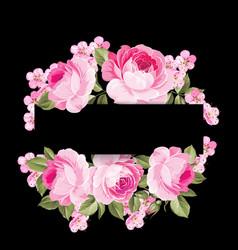 the blooming rose garland vector image vector image