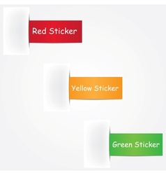 three colorful stickers vector image