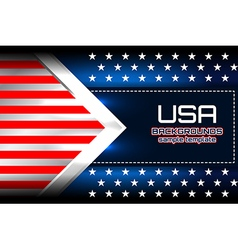 USA flag backgrounds template vector image vector image