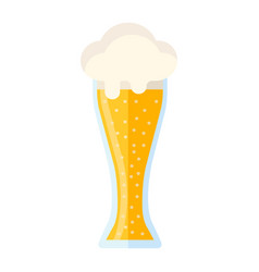 beer glass flat icon food and drink alcohol sign vector image vector image