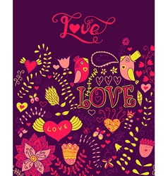 Love watercolor lettering Watercolor letters love vector image